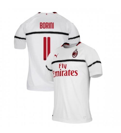 AC Milan 2018-19 Replica Away #11 Fabio Borini White Jersey