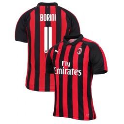 AC Milan 2018-19 Authentic Home #11 Fabio Borini Red Black Jersey