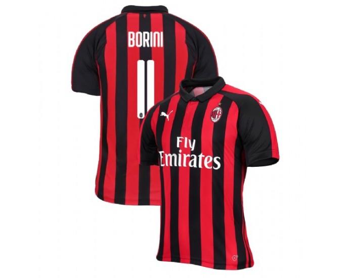 Fabio Borini AC Milan 18-19 Red Black Men's Home Authentic Jersey