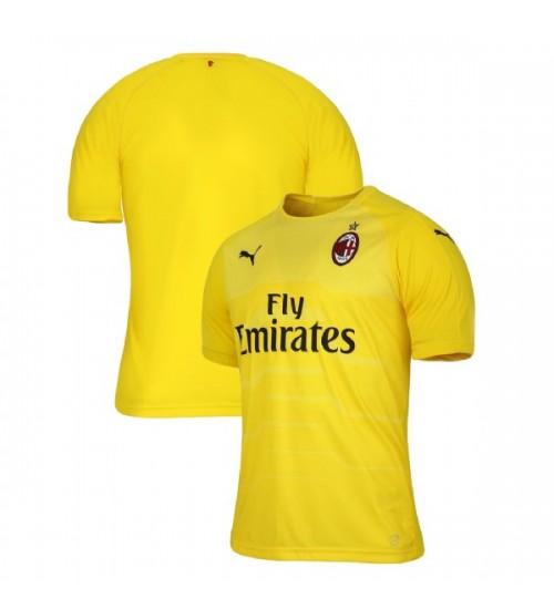 AC Milan 2018-19 Authentic Goalkeeper Yellow Jersey