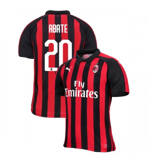 AC Milan 2018-19 Authentic Home #20 Ignazio Abate Red Black Jersey
