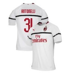 AC Milan 2018-19 Authentic Away #31 Luca Antonelli White Jersey