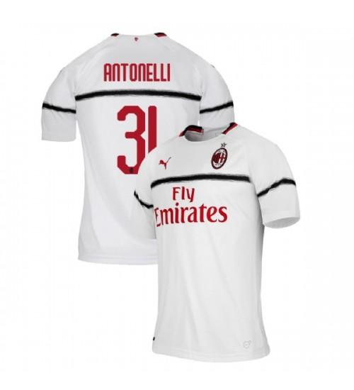 AC Milan 2018-19 Replica Away #31 Luca Antonelli White Jersey