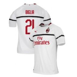 AC Milan 2018-19 Authentic Away #21 Lucas Biglia White Jersey
