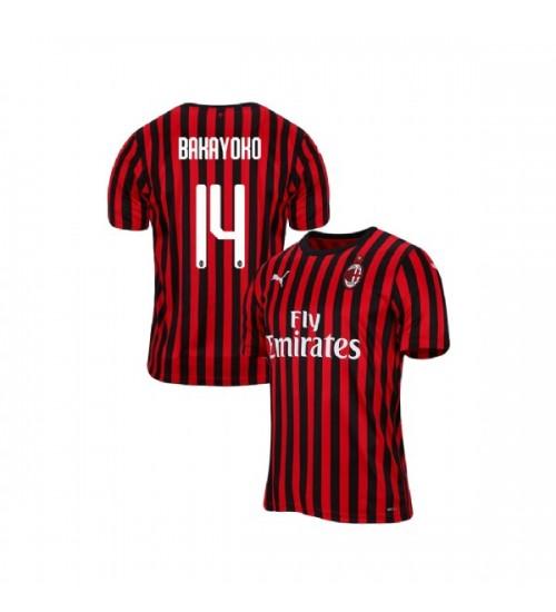 AC Milan 2019-20 Authentic Home #14 Tiemoue Bakayoko Red Black Jersey
