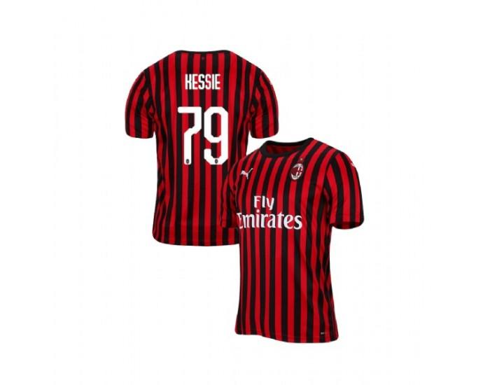 Men's Franck Kessie AC Milan 19-20 Red Black Home Replica Jersey