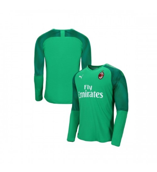 AC Milan 2019-20 Authentic Goalkeeper Home Green Jersey