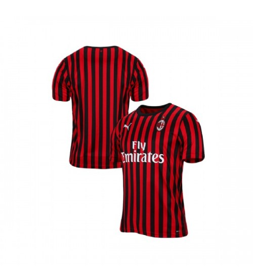 AC Milan 2019-20 Authentic Home Red Black Jersey