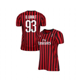 Women's AC Milan 2019-20 Authentic Home #93 Diego Laxalt Red Black Jersey