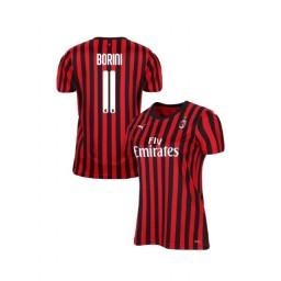Women's AC Milan 2019-20 Authentic Home #11 Fabio Borini Red Black Jersey