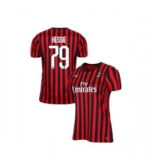 Women's AC Milan 2019-20 Authentic Home #79 Franck Kessie Red Black Jersey