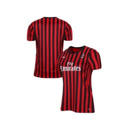 Women's AC Milan 2019-20 Authentic Home Red Black Jersey