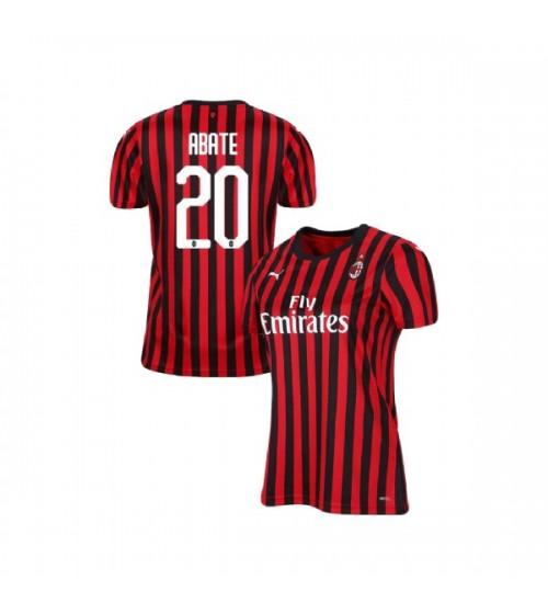 Women's AC Milan 2019-20 Replica Home #20 Ignazio Abate Red Black Jersey