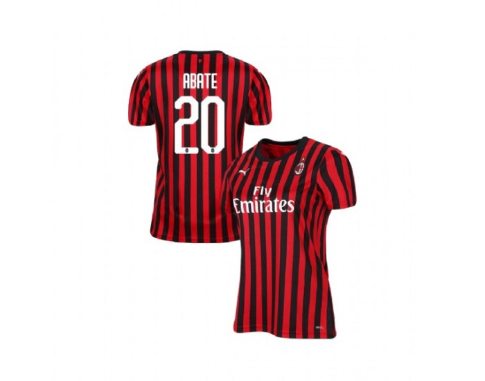 Ignazio Abate AC Milan 19-20 Red Black Women's Home Authentic Jersey