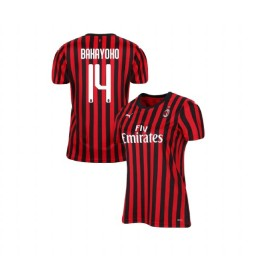 Women's AC Milan 2019-20 Authentic Home #14 Tiemoue Bakayoko Red Black Jersey
