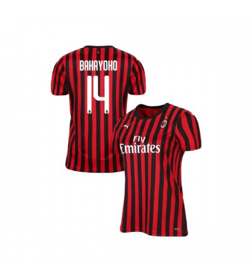 Women's AC Milan 2019-20 Authentic Home #14 Tiemoue Bakayoko Red Black Jersey