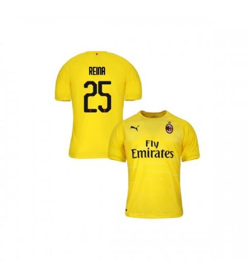 Youth AC Milan 2018-19 Replica Goalkeeper #25 Pepe Reina Yellow Jersey