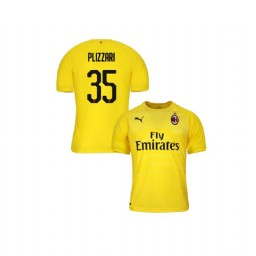 Youth AC Milan 2018-19 Authentic Goalkeeper #35 Alessandro Plizzari Yellow Jersey