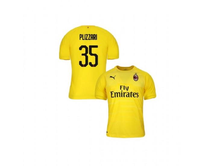 Alessandro Plizzari AC Milan 18-19 Yellow Youth Goalkeeper Replica ...