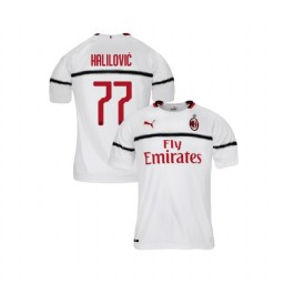 Youth AC Milan 2018-19 Authentic Away #77 Alen Halilovic White Jersey