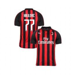 Youth AC Milan 2018-19 Authentic Home #77 Alen Halilovic Red Black Jersey