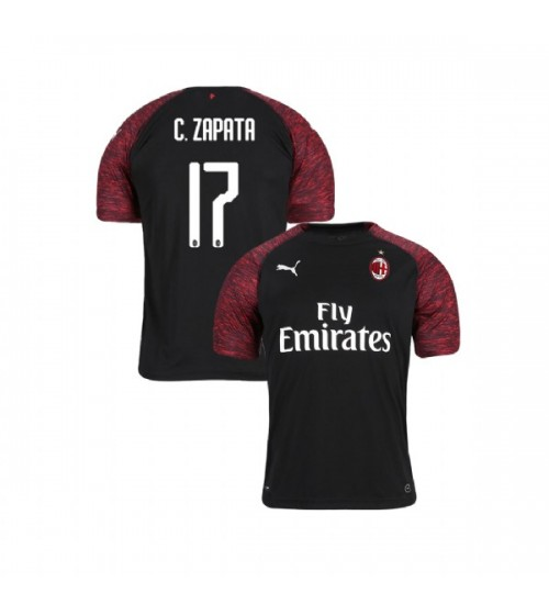 Youth AC Milan 2018-19 Authentic Third #17 Cristian Zapata Black Jersey