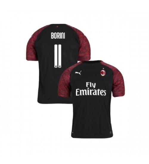 Youth AC Milan 2018-19 Authentic Third #11 Fabio Borini Black Jersey