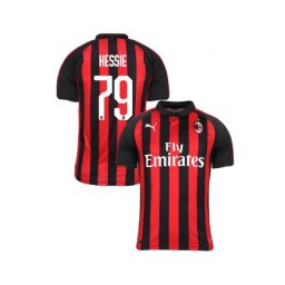 Youth AC Milan 2018-19 Authentic Home #79 Franck Kessie Red Black Jersey