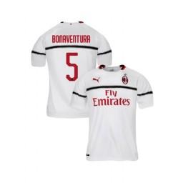 Youth AC Milan 2018-19 Authentic Away #5 Giacomo Bonaventura White Jersey