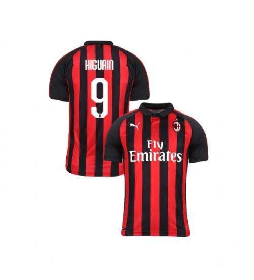 Youth AC Milan 2018-19 Replica Home #9 Gonzalo Higuain Red Black Jersey