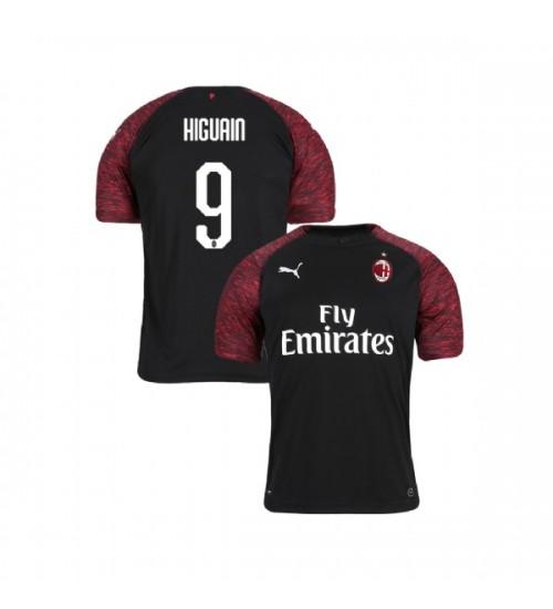 Youth AC Milan 2018-19 Replica Third #9 Gonzalo Higuain Black Jersey