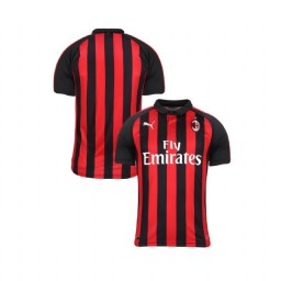 Youth AC Milan 2018-19 Authentic Home Red Black Jersey