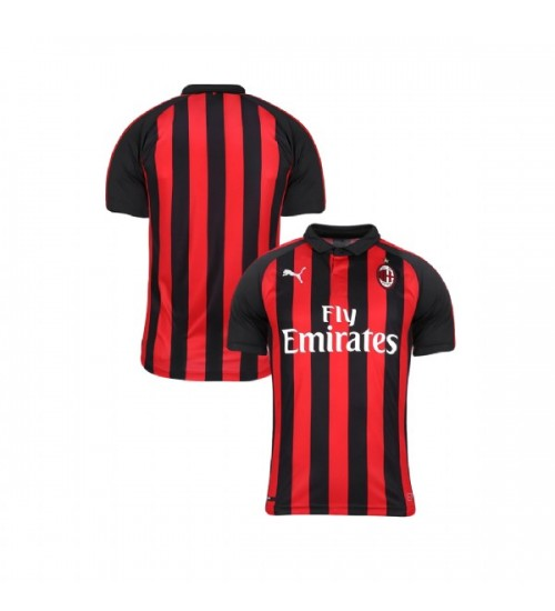 Youth AC Milan 2018-19 Replica Home Red Black Jersey