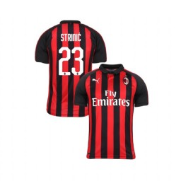 Youth AC Milan 2018-19 Authentic Home #23 Ivan Strinic Red Black Jersey