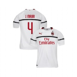 Youth AC Milan 2018-19 Authentic Away #4 Jose Mauri White Jersey