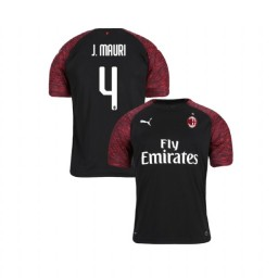 Youth AC Milan 2018-19 Authentic Third #4 Jose Mauri Black Jersey