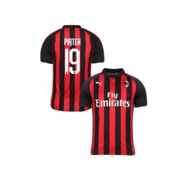 Youth AC Milan 2018-19 Authentic Home #19 Krzysztof Piatek Red Black Jersey