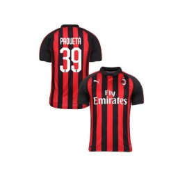 Youth AC Milan 2018-19 Authentic Home #39 Lucas Paqueta Red Black Jersey
