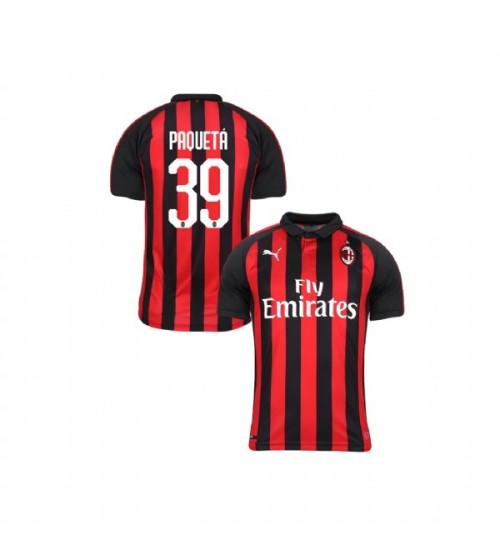 Youth AC Milan 2018-19 Replica Home #39 Lucas Paqueta Red Black Jersey