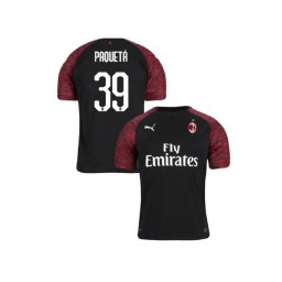 Youth AC Milan 2018-19 Authentic Third #39 Lucas Paqueta Black Jersey