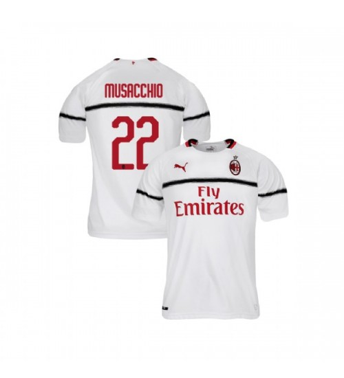Youth AC Milan 2018-19 Authentic Away #22 Mateo Musacchio White Jersey