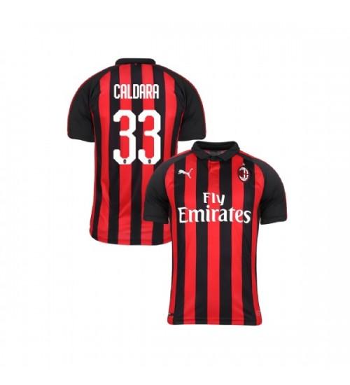 Youth AC Milan 2018-19 Replica Home #33 Mattia Caldara Red Black Jersey