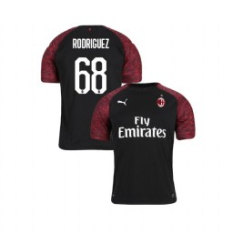 Youth AC Milan 2018-19 Authentic Third #68 Ricardo Rodriguez Black Jersey