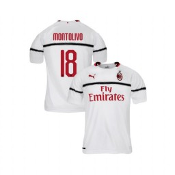 Youth AC Milan 2018-19 Authentic Away #18 Riccardo Montolivo White Jersey
