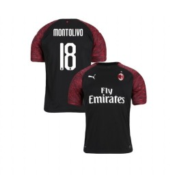 Youth AC Milan 2018-19 Authentic Third #18 Riccardo Montolivo Black Jersey