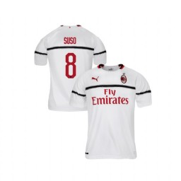 Youth AC Milan 2018-19 Authentic Away #8 Suso White Jersey