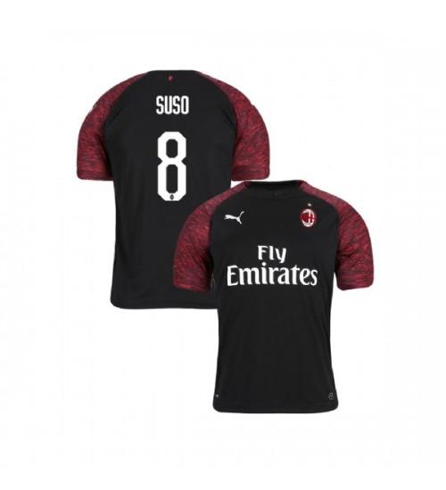 Youth AC Milan 2018-19 Replica Third #8 Suso Black Jersey