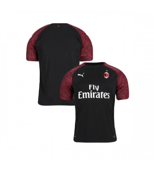Youth AC Milan 2018-19 Authentic Third Black Jersey