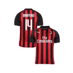 Youth AC Milan 2018-19 Authentic Home #14 Tiemoue Bakayoko Red Black Jersey