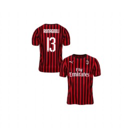 Youth AC Milan 2019-20 Replica Home #13 Alessio Romagnoli Red Black Jersey